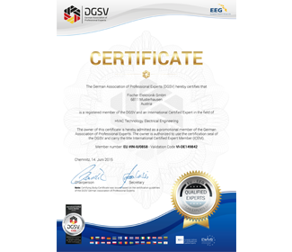 Official DGuSV Certificate for international members