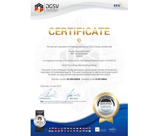 Official DGuSV Certificate for international members